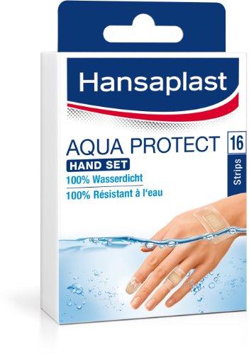 Hansaplast Aqua Protect Hand Pflaster Set 16 Strips