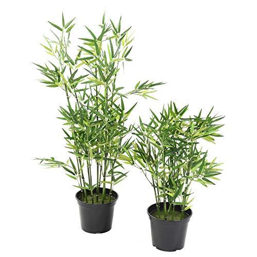 Flore Office Bambou Artificiel TV (90 cm) Haut de Gamme Fausse Plante Bambou Zen Arbres artificiels