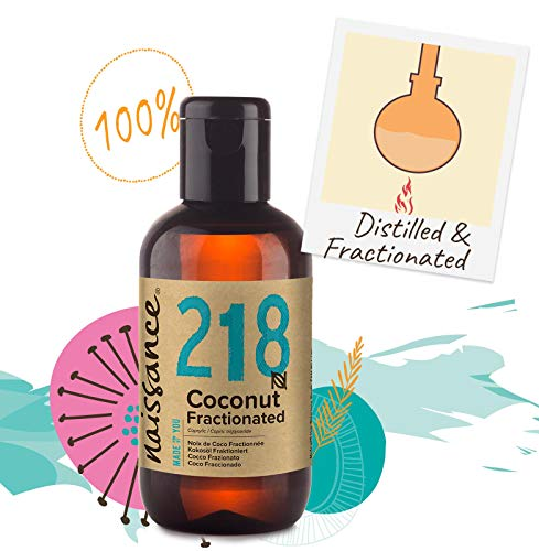 Naissance Fractionated Coconut Oil 3.4 fl oz - Pure, Natural, Cruelty Free, Vegan - Moisturizing & Hydrating - Ideal for Aromatherapy, Massage and DIY Beauty Recipes