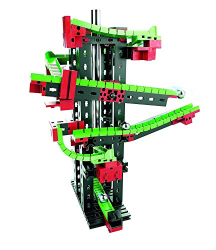 fischertechnik Dynamic S Kugelbahn mit Klang - für Kinder ab 7 Jahren - 3 Modelle - einfache Kugelbahn, Action-Kugelbahn und Kugelbahn mit zwei Kreisläufen
