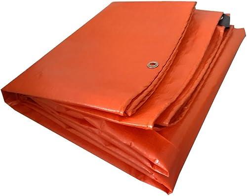 GTRHGTYH Bache imperméable Lavable et Durable Tissu antipluie imperméable bache Orange Poncho imperméable Tapis de Camping crème Solaire Anti-Corrosion Anti-Corrosion Anti-Corrosion