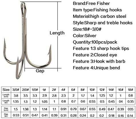 18 hooks size Complete Fishing
