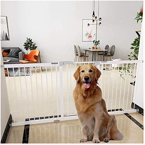 Jacquelyn Safety Gate Pressure Fit Safety Metal Gate Stands 80cm tall The width can be selected from 75 to 200cm Dog Gate Baby Gates with Extensions Available Ideal for Kids and Pets