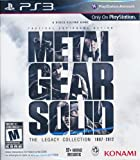 METAL GEAR SOLID THE LEGACY COLLECTION PS3 GAME BRAND NEW SEALED (NO ARTBOOK)