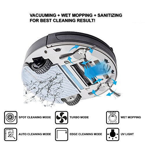 Hovo 780 4-in-1 Robotic Vacuum Cleaner - Sweeping, Vacuuming, Wet/Dry Mopping and UV Sterilization (Red)