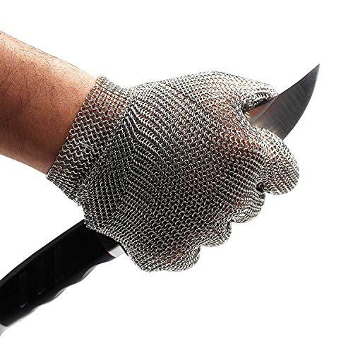 Schwer Edelstahl Metallgeflecht Kettenschutz Schnittfest Handschuh für Lebensmittelhandhabung, Fleisch schneiden, Metzgern, Hacken, Restaurants, Arbeitssicherheit, S