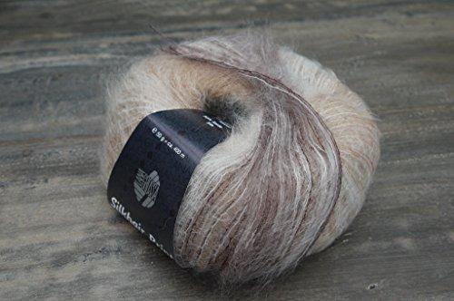 Lana Grossa Silkhair Print 342 Pelote de laine naturel / camel / gris clair / chocolat