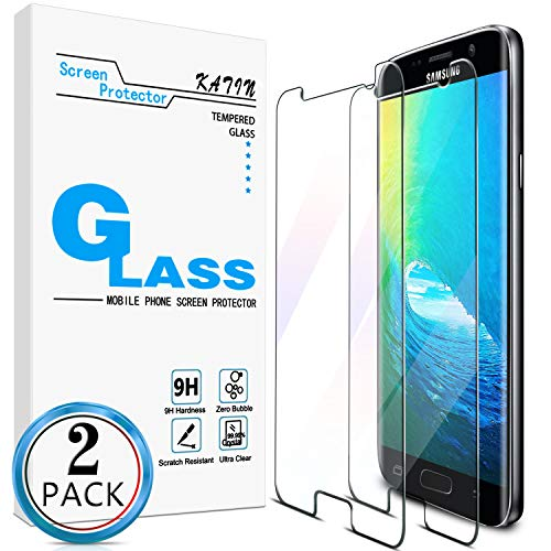 KATIN Galaxy S7 Screen Protector - [2-Pack] for Samsung Galaxy S7 Tempered Glass No-Bubble, 9H Hardness, Easy to Install