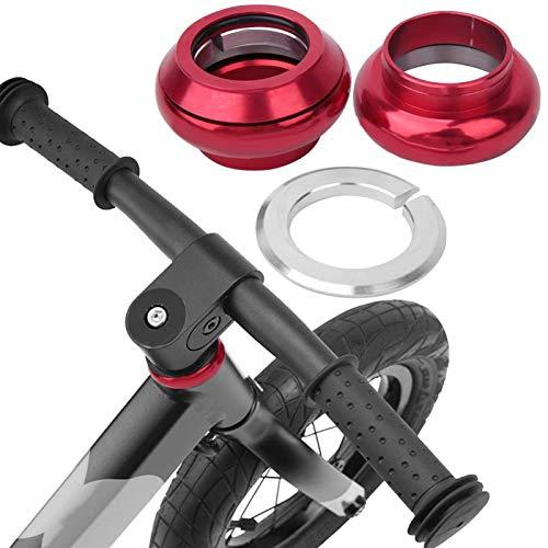 KUIDAMOS Auriculares de Bicicleta de 56 mm Auriculares de Bicicleta antioxidantes, niños Bicicleta de Equilibrio(Red)
