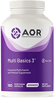 AOR, Multi Basics 3, Essential Multivitamin, Fully Balanced, Multi-Mineral Dietary Supplement, 60 Servings (180 Capsules)