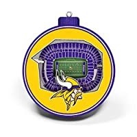 NFL Minnesota Vikings - U.S. Bank Stadium 3D StadiumView Ornament3D StadiumView Ornament, Team Colors, Large