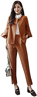 AKATUKI スーツ セットアップ パンツスーツ 入学式 レディース エレガント 韓国風ママ セットアップ おしゃれ 入園式 セレモニー 通勤 ワイドパンツ ガウチョパンツ大きいサイズ 30代40代