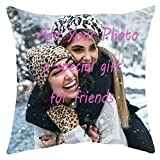 Seamaid Customized Decorative Cushion Covers with Picture Personalized Pillow Cover for Couch or Sofa Custom Gifts for Bestfriend Family Lover Pet 18x18(45cm45cm)
