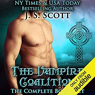 The Vampire Coalition: The Complete Boxed Set     The Vampire Coalition, Books 1-5              By:                                                                                                                                 J. S. Scott                               Narrated by:                                                                                                                                 Elizabeth Powers                      Length: 11 hrs and 30 mins     25 ratings     Overall 4.5