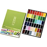 Kuretake GANSAI TAMBI Watercolor paints, Handcrafted, Professional-Quality Pigment Inks for Artists and Crafters, AP-Certified, Blendable, Show up on Dark Papers, Made in Japan (48 Colors)