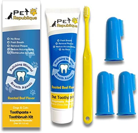 Pet Republique Dog Toothbrush Series Pack of 6 or 3 Cat and Dog Finger Toothbrush Handle Toothbrushes product image