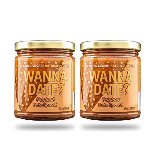 Wanna Date? Original Date Spread, Vegan, Paleo Friendly, Gluten-Free, Dairy-Free, Non-GMO, No Added Sugar, No Cane Sugar, Whole30 compliant, Healthy Sugar Substitute, Sugar Free Alternative (2 Jars)