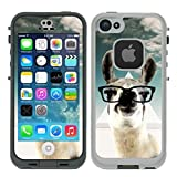Teleskins Protective Designer Vinyl Skin Decals/Stickers Compatible with Lifeproof iPhone 5/5S/Se Fre Case -Hipster Llama Geek Glass Design Patterns - only Skins and not Case