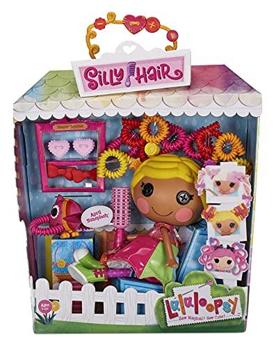 Lalaloopsy Silly Hair Muñeca April Sunsplash de 33cm con tucán-Pelo Color arcoíris y 11 Accesorios-Caja Reutilizable como salón de Belleza-Edad: 3-103 años, Multicolor (576945C3)