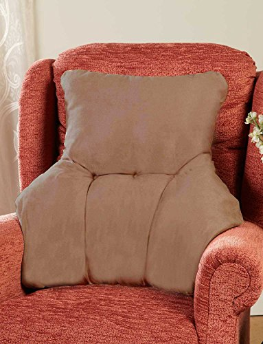 Faux Suede Back Rest Lumbar Support Cushion Mink One Size