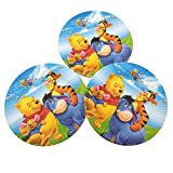 Winnie The Pooh Print Plates/Print Paper Round/Round Disposable Plates for Theme/Birthday Parties(Pack of 10)