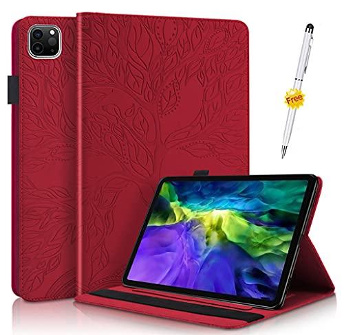 KSHOP Compatible avec Coque Huawei MediaPad M5 10.8 inch/ M5 Pro 10.8 inch 2018, Housse Étui avec Veille/Réveil Automatique, Rouge