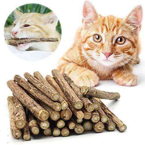 Onebarleycorn – katzenminze stick,katzen spielzeug zahnpflege katzen sticks katzen matatabi für die natürliche Katzen Zahnpflege,30 Stück