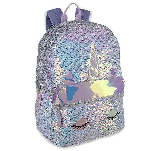 Reverse Sequin Glitter Backpacks - Color Changing Rainbow Magic Backpacks (Rainbow Unicorn)