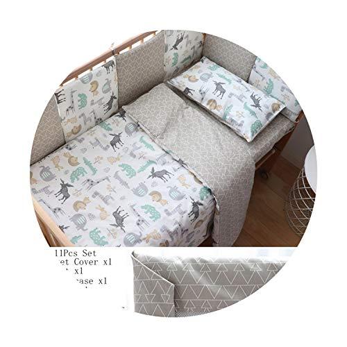 Suzanne Betty Parure de lit pour bébé pour nouveau-nés en coton doux avec tour de lit pour fille, linge de lit pour enfant, décoration de chambre d'enfant, 3 pièces