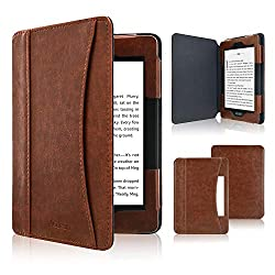in budget affordable ACdream Kindle Paperwhite 2018, Leather Folio Smart Cover with Auto Sleep …