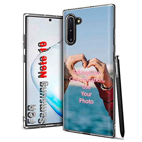 TalkingCase Personalize Custom Clear Thin Gel Phone Case for Samsung Galaxy Note 9,Image Picture,Light Weight,Ultra Flexible,Soft Touch,Anti-Scratch,Designed in USA