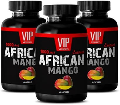 Best African Mango Powder Pure African Mango 1000mg 4 1 Extract Weight Loss Supplement 3 Bottles product image