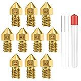 お得なパック:0.2mm MK8ノズル、10個セット、外面にサイズが刻印されているので、ノズルの仕様が一目でわかります。 パラメータ:入力直径2.00mm、出力直径0.2mm、外ねじM6、ねじ長4mm。 適用性と互換性:当社のノズルは、すべての1.75mm PLA ABS 3Dプリンターと互換性のある3DプリンターMakerbot Creality CR-10、MK8 Makerbot Reprap Prusa I3に適合します。 オリジナルとまったく同じようにフィットします。 優れたテクノロジ...