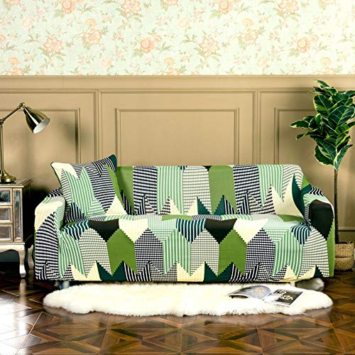 HUIJIE Sofa Cover Slipcovers,1/2/3/4 Seater Elastic Non-Slip Universal Sofa Cover Cross Space Printed All-Inclusive Dust Stretch Furniture Protector Armchair Couch Cover,1,Seat 90,140Cm