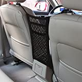 Auto Netz MAXTUF 3 Schichte Auto Rücksitz Netz Organizer Tasche mit 4 Haken Universal für Kinder Trinkflasche Spielzeug Beutel