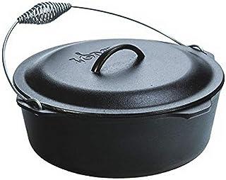 Lodge 8.52 litre / 9 quart Pre-Seasoned Cast Iron Dutch Oven/Casserole Dish (with Spiral Bail Handle)