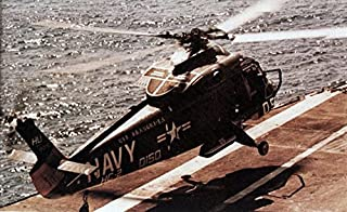 Home Comforts of Helicopter Combat Support Squadron HC-2 Det.38 Fleet Angels Landing Aboard The Aircraft Carrie Vivid Imagery Laminated Poster Print 24 x 36