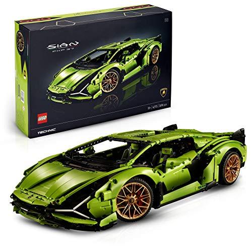 LEGO 42115 Technic Lamborghini Sián FKP 37 Rennwagen, Bauset für Erwachsene, exklusiver Modellbausatz