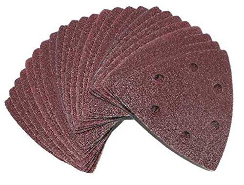 60 Blatt Klett Schleifdreiecke Delta Schleifpapier + 1 Blatt Gratis 93x93x93mm 6-Loch Körnung gemischt je 10 Blatt K40/K60/K80/K120/K180/K240