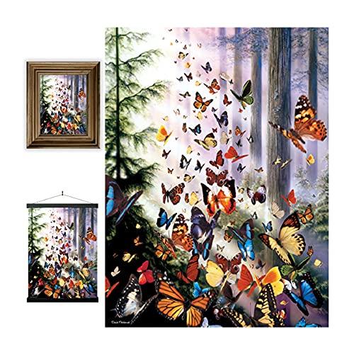 3D LiveLife Lenticular Cuadros Decoración - Bosque de mariposas de Deluxebase. Poster 3D sin marco de mariposas. Obra de arte original con licencia del reconocido artista, David Penfound