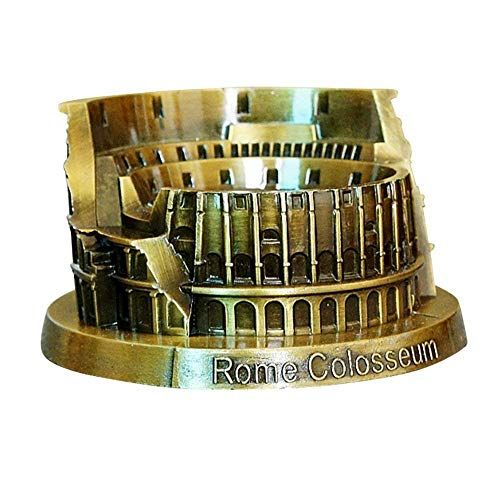 PROW® Metall Rom Colosseum Modell Retro Bronze Antike Architektur Handgemachte Handwerk Zuhause Desktop Dekor Sammeln Künstliche Welt Berühmte Gebäude Skulptur