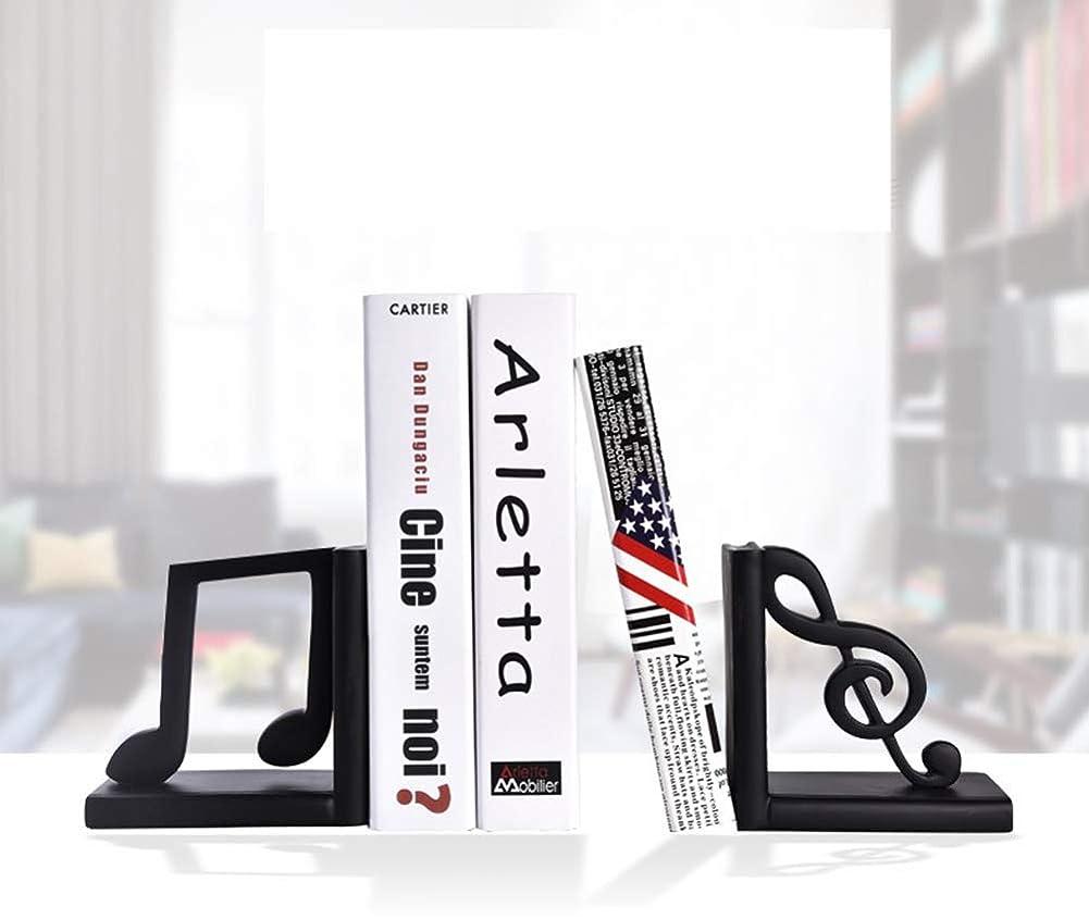 阻害するボール交じる頑丈な黒いブックエンド、シンプルなヨーロピアン/ファッションノートの本棚、装飾的な本棚、ブックエンド、サイズ:(5.5X2.7X5.5インチ),c