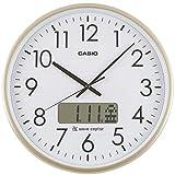 CASIO(カシオ) 掛け時計 電波 ゴールド 直径36cm アナログ プログラム 時報 機能 カレンダー 表示 IC-2100J-9JF