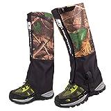 Oarea - Polainas de botas impermeables para caza altamente transpirables, polainas altas de pierna, leggings de nieve para senderismo, escalada, verde oscuro