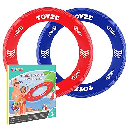 Toyzee Flying Ring Kinder, Kinder Spielzeug Jungen 3-12 Jahre Geschenke für Mädchen 3-12 Jahre Spielzeug für Draußen Flying Disc Spielzeug Mädchen 3-12 Jahre gartenspielzeug Kinder draussen