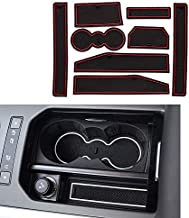 for Range Rover Evoque 2012 2013 2014 2015 (8pcs) Custom Gate Slot Pad Cup Holder Pads Door Groove Mat Center Organizer Storage Box Non-Slip Silica Liner Red