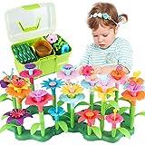 CENOVE Blumengarten Spielzeug für 3-6 Jährige Mädchen, DIY Bouquet Sets mit Aufbewahrungskiste, Kunst Blumenarrangement Geschenk für Mädchen und Jungen (130PCS)