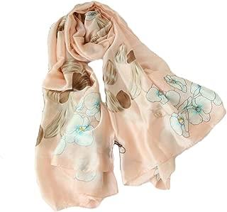 Happy-L New Silk Satin Scarf Printing Long Paragraph 180 * 90cm Elegant Ladies Sunscreen Holiday Shawl (Color : 03)