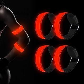 Molbory Bracelets à LED réfléchissantes, réflecteur de lumière pour Course à Pied