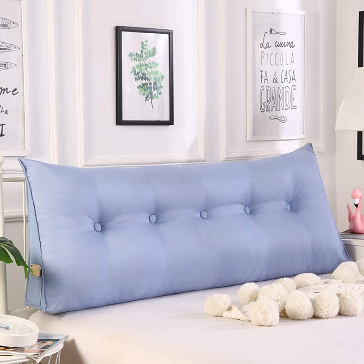 Reading pillow Back support pillow Headboard Bedside Cushion Soft Case Sofa Large Double Beds Back Household Washable, (805020cm,1005020cm,1205020cm) ( color   F , Size   1205020cm )